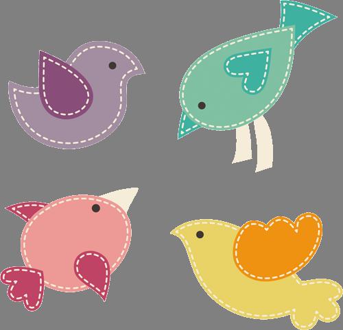 Наклейка «Четыре птички»Детские<br>Цветная интерьерная наклейка на виниле. Яркая и красивая! Можно сделать любой размер. Трехслойная надежная упаковка. Доставим в любую точку России.<br>
