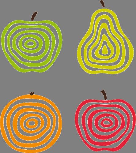Наклейка «Четыре фрукта»Для кухни, столовой<br><br>