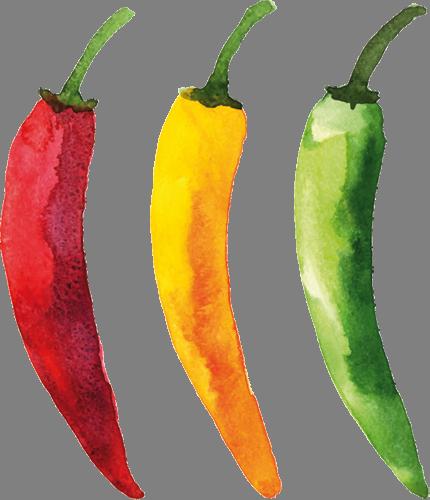 Наклейка «Три острых перца»Для кухни, столовой<br><br>