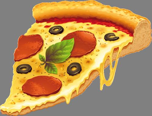 Наклейка «Кусочек пиццы»Для кухни, столовой<br>Цветная интерьерная наклейка на виниле. Яркая и красивая! Можно сделать любой размер. Трехслойная надежная упаковка. Доставим в любую точку России.<br>