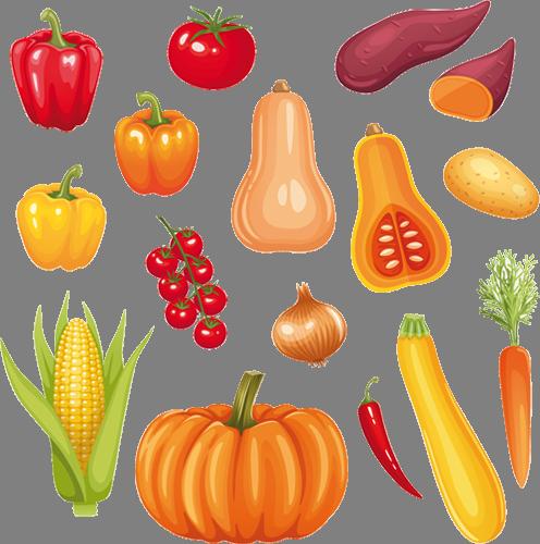Наклейка «Овощная грядка»Для кухни, столовой<br>Цветная интерьерная наклейка на виниле. Яркая и красивая! Можно сделать любой размер. Трехслойная надежная упаковка. Доставим в любую точку России.<br>