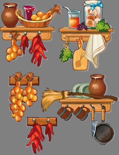 Наклейка «Набор хозяйки»Для кухни, столовой<br><br>