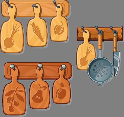 Наклейка «Кухонные принадлежности»Для кухни, столовой<br><br>