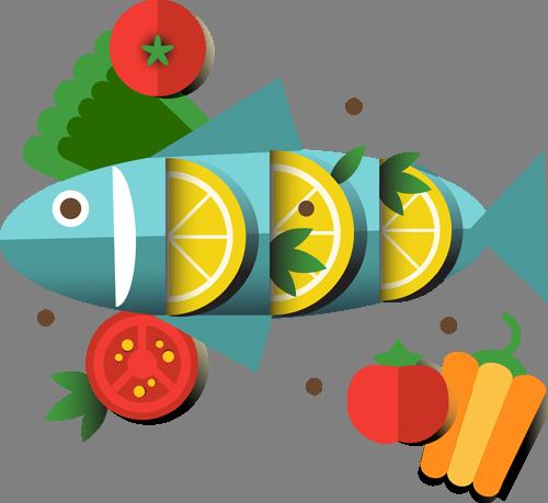Наклейка «Фаршированная рыба»Для кухни, столовой<br><br>