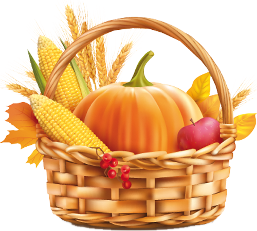 Наклейка «Корзина с урожаем»Для кухни, столовой<br><br>