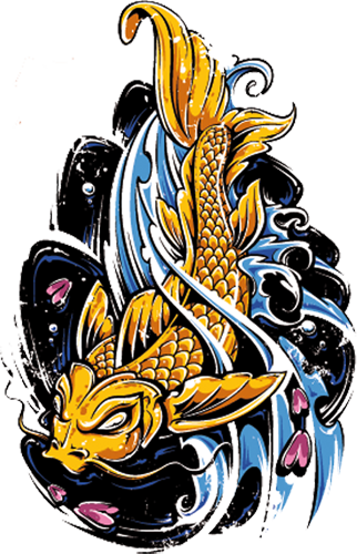 Наклейка «Золотая рыбка»