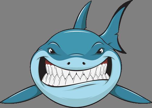 Наклейка «Улыбка акулы»Для ванны, туалета<br><br>