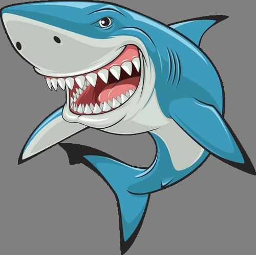 Наклейка «Голубая акула»Для ванны, туалета<br><br>