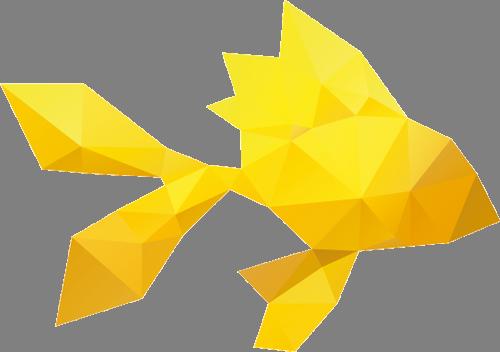 Наклейка «Жёлтая рыбка»Для ванны, туалета<br><br>
