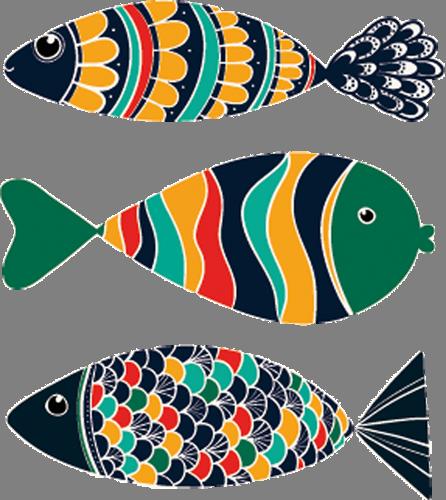 Наклейка «Три рыбки»Для ванны, туалета<br><br>