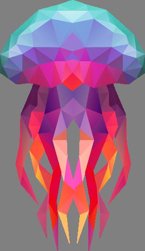 Наклейка «Цветастая медуза»