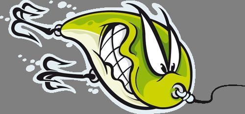 Наклейка «Рыба на крючке»