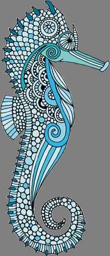 Наклейка «Голубой морской конёк»