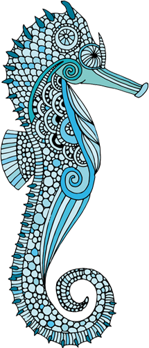 Наклейка «Голубой морской конёк»Для ванны, туалета<br><br>