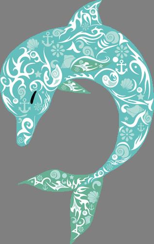 Наклейка «Голубой дельфин»