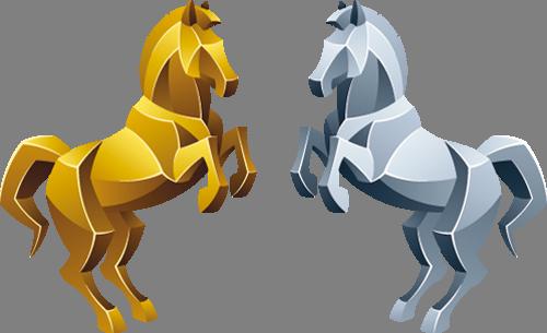 Наклейка «Две лошади»Животные и птицы<br>Цветная интерьерная наклейка на виниле. Яркая и красивая! Можно сделать любой размер. Трехслойная надежная упаковка. Доставим в любую точку России.<br>
