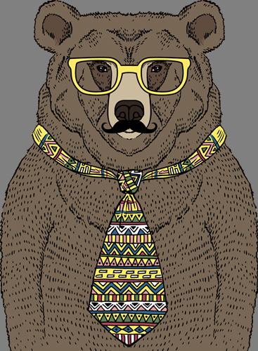 Наклейка «Медведь в очках»Животные и птицы<br>Цветная интерьерная наклейка на виниле. Яркая и красивая! Можно сделать любой размер. Трехслойная надежная упаковка. Доставим в любую точку России.<br>