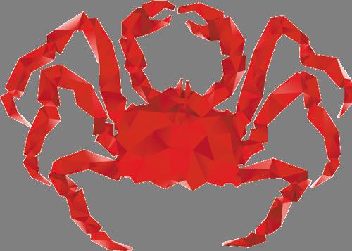 Наклейка «Красный краб»Животные и птицы<br><br>