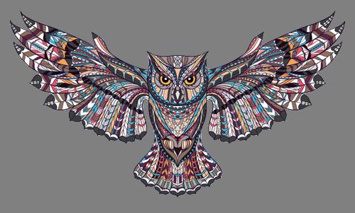 Наклейка «Сова расправила крылья»Животные и птицы<br><br>