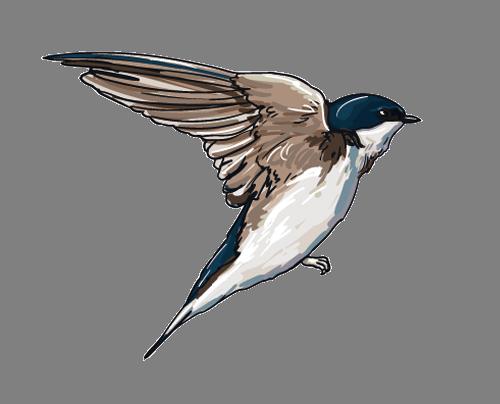 Наклейка «Летящая птичка»