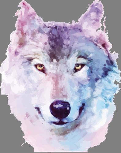 Наклейка «Голова волка»Животные и птицы<br><br>