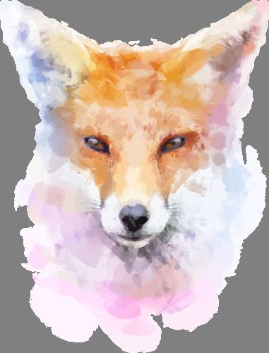 Наклейка «Голова лисы»Животные и птицы<br><br>