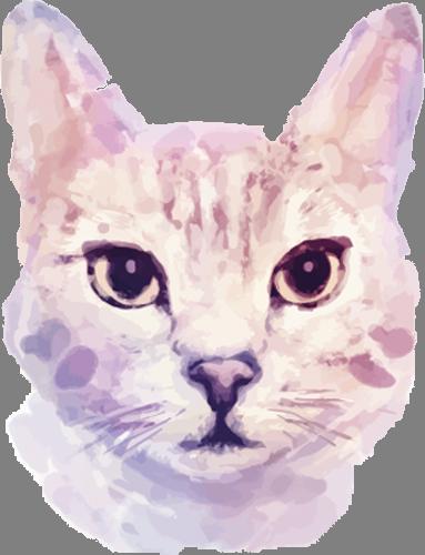 Наклейка «Голова кошки»Животные и птицы<br><br>