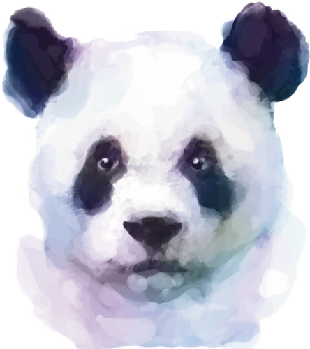 Наклейка «Голова панды»Животные и птицы<br><br>