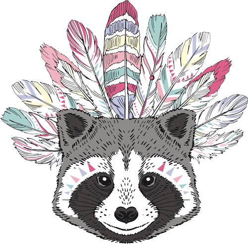 Наклейка «Голова енота»Животные и птицы<br>Цветная интерьерная наклейка на виниле. Яркая и красивая! Можно сделать любой размер. Трехслойная надежная упаковка. Доставим в любую точку России.<br>