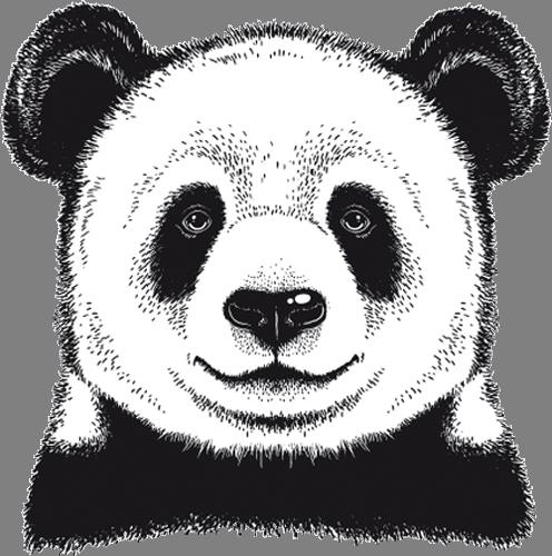Наклейка «Морда пандочки»Животные и птицы<br><br>