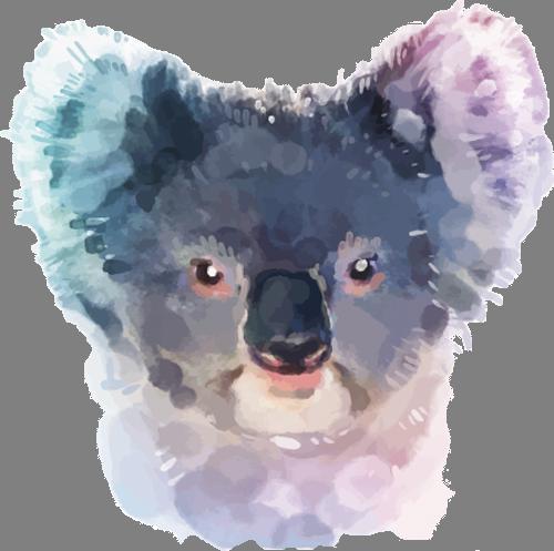 Наклейка «Морда коалы»Животные и птицы<br>Цветная интерьерная наклейка на виниле. Яркая и красивая! Можно сделать любой размер. Трехслойная надежная упаковка. Доставим в любую точку России.<br>