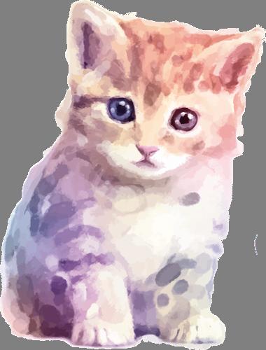 Наклейка «Котёнок»Животные и птицы<br><br>