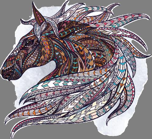 Наклейка «Профиль лошади»Животные и птицы<br><br>