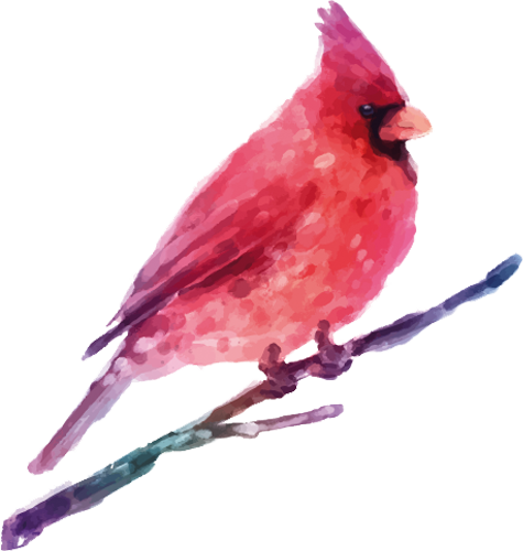 Наклейка «Розовая птичка»