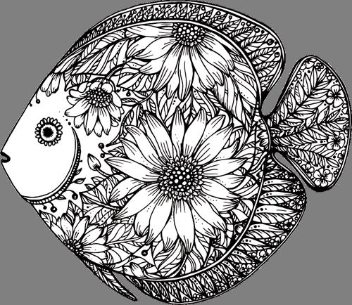 Наклейка «Рыбка в профиль»
