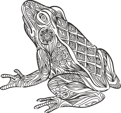 Наклейка «Жаба»