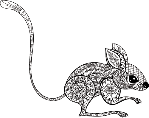 Наклейка «Мышка»