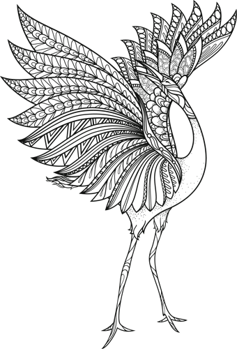 Наклейка «Цапля»Животные и птицы<br>Цветная интерьерная наклейка на виниле. Яркая и красивая! Можно сделать любой размер. Трехслойная надежная упаковка. Доставим в любую точку России.<br>