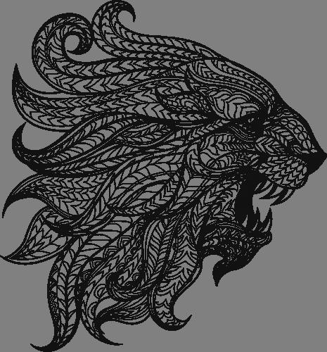 Наклейка «Профиль льва»Животные и птицы<br><br>