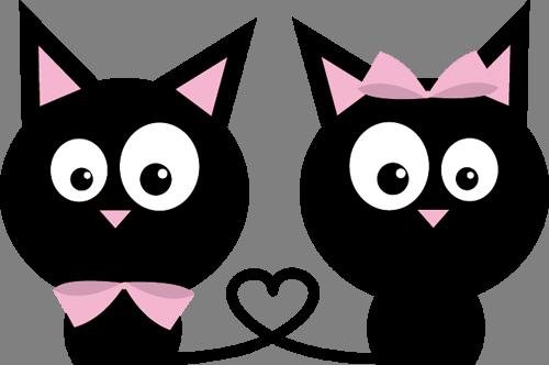 Наклейка «Кошачья любовь»