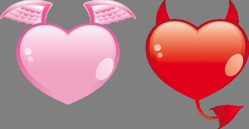 Наклейка «Ангел и демон»Любовь<br>Цветная интерьерная наклейка на виниле. Яркая и красивая! Можно сделать любой размер. Трехслойная надежная упаковка. Доставим в любую точку России.<br>