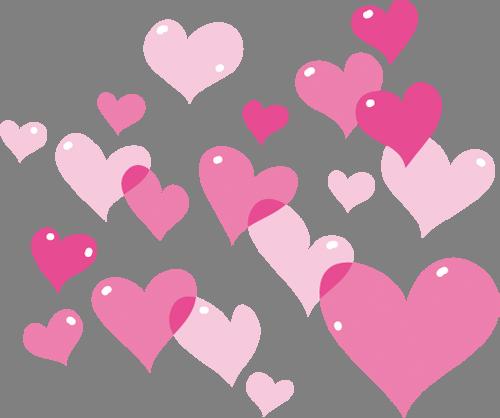 Наклейка «Сердечки»