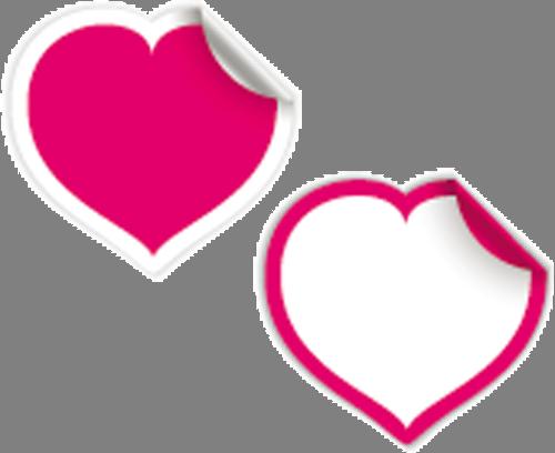 Наклейка «Два сердца»Любовь<br><br>