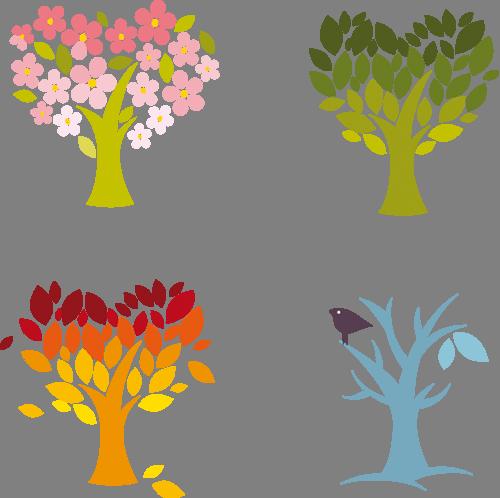 Наклейка «Деревья в форме сердец»Любовь<br><br>