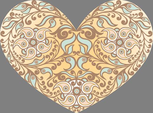 Наклейка «Сердце-орнамент»Любовь<br><br>