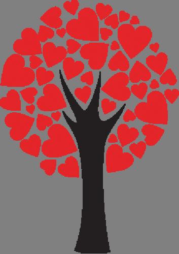 Наклейка «Дерево в сердцах»