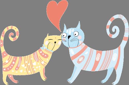 Наклейка «Кошачья любовь»Любовь<br><br>