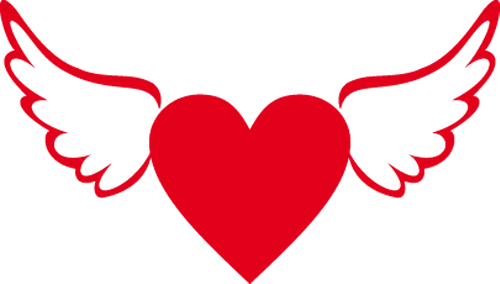 Наклейка «Крылатое сердце»Любовь<br>Цветная интерьерная наклейка на виниле. Яркая и красивая! Можно сделать любой размер. Трехслойная надежная упаковка. Доставим в любую точку России.<br>