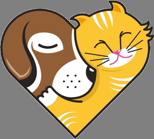 Наклейка «Как кошка с собакой»