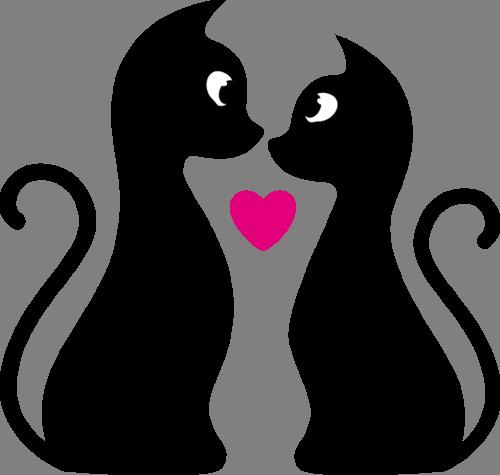 Наклейка «Любовь чёрных котов»Любовь<br>Цветная интерьерная наклейка на виниле. Яркая и красивая! Можно сделать любой размер. Трехслойная надежная упаковка. Доставим в любую точку России.<br>